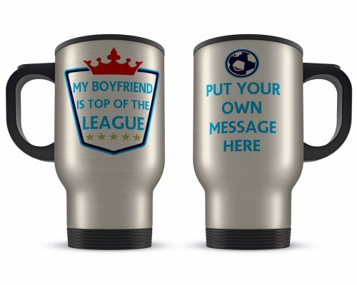 Personalised 14oz Top Of The League Novelty Gift Aluminium Travel